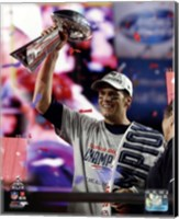 Tom Brady with the Vince Lombardi Trophy Super Bowl XLIX Fine Art Print