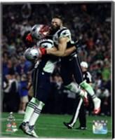 Rob Ninkovich & Julian Edelman Super Bowl XLIX Action Fine Art Print