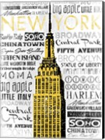 New York - Yellow Fine Art Print