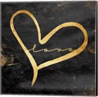 Simple Love (black) Fine Art Print
