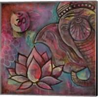 Ganesha Lotus Fine Art Print