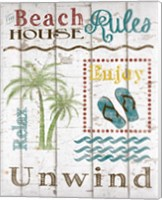 Beach House Rules Fine Art Print