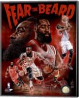 James Harden Fear the Beard Portrait Plus Fine Art Print