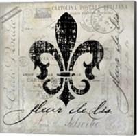Fleur De Lis Vintage Fine Art Print