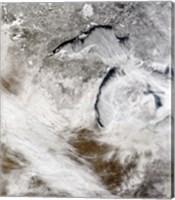 Cloud Streets over Lake Superior and Lake Michigan Fine Art Print