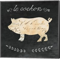 Le Cochon Cameo Sq Fine Art Print