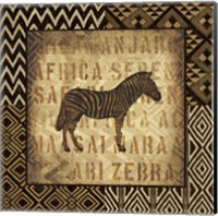 African Wild Zebra Border Fine Art Print