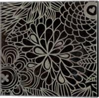 Stencil Floral III Fine Art Print