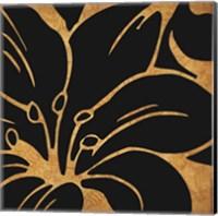 Black and Gold Flora 3 Fine Art Print