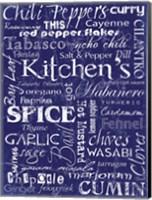 Kitchen Spice Indigo Fine Art Print