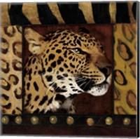 Leopard with Wild Border Fine Art Print