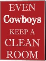 Cowboys Clean Room Fine Art Print