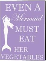 Mermaid Must Eat Fine Art Print