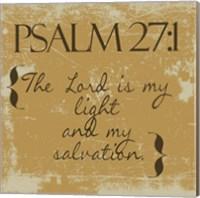 Psalms 27-1 Gold Fine Art Print