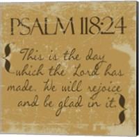 Psalms 118-24 Gold Fine Art Print