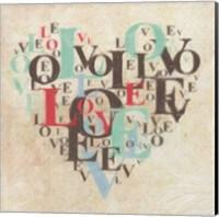 Heart Love III Fine Art Print