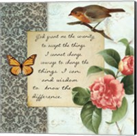 Vintage Serenity Prayer Fine Art Print