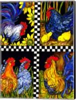 Chicken Quartet Fine Art Print