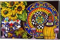 Vino and Sunflowers Fine Art Print