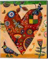 Peachy Heart Fine Art Print
