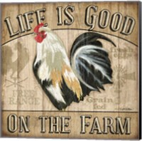 Country Rooster II Fine Art Print