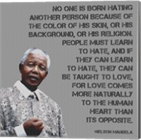 No One - Nelson Mandela Quote Fine Art Print