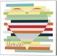 Heart Rainbow Fine Art Print