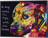 Gratitude Pitbull Fine Art Print