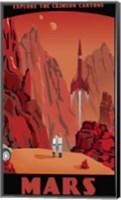 Crimson Canyons Of Mars Fine Art Print