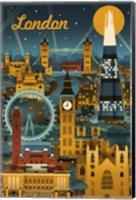 London Evening Ferris Wheel Fine Art Print