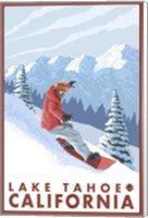 Lake Tahoe Moutain Snowboard Fine Art Print