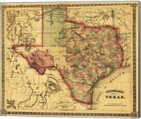 Map of Texas Fine Art Print