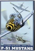 P-51 Mustang Airplane Ad Fine Art Print