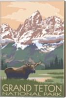 Grand Teton National Park Moose Fine Art Print