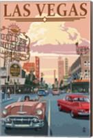 Las Vegas (vintage ad) Fine Art Print