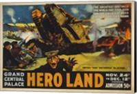 Hero Land, WWI Movie Poster Fine Art Print