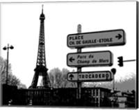 Photograph of street signs in Paris Fine Art Print