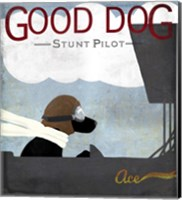 Good Dog Stunt Pilot Fine Art Print