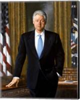 Bill Clinton in White House Fine Art Print