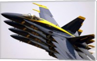 Four Blue Angels F/A-18C Hornets Fine Art Print