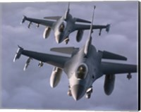 Two F-16 Fighting Falcons Fine Art Print