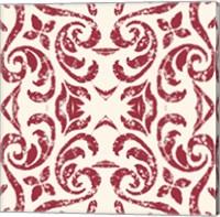 Damask Red Fine Art Print