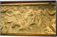 A Roman sarcophagus, Museo de la Cultura del Vino, Briones Village, La Rioja, Spain Fine Art Print