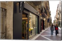 Shopping street in Village of Vilanova i la Geltru, Catalonia, Spain Fine Art Print