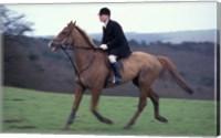Horseback riding, Leicestershire, England Fine Art Print