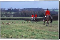 The Quorn Fox Hunt, Leicestershire, England Fine Art Print