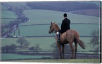 Man on horse, Leicestershire, England Fine Art Print