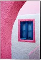 Colorful Pink Building, Imerovigli, Santorini, Greece Fine Art Print