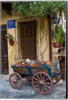Old Wagon Cart, Chania, Crete, Greece Fine Art Print