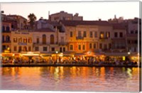 The Old Harbor, Chania, Crete, Greece Fine Art Print